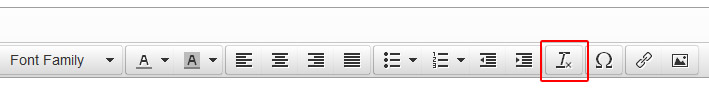 The Plain Text button is available to strip off any unwanted formatting
