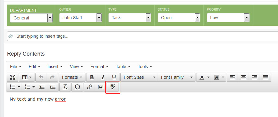 Add-on to expand the Editor with a spellchecking module